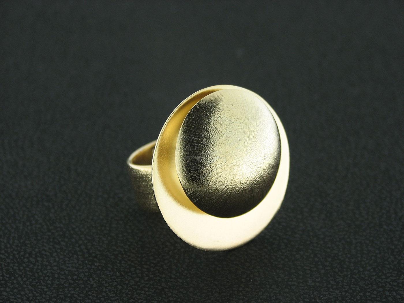 Δαχτυλίδι χειροποίητο από ασήμι 925 επιχρυσωμένο Τιμή 49,00€